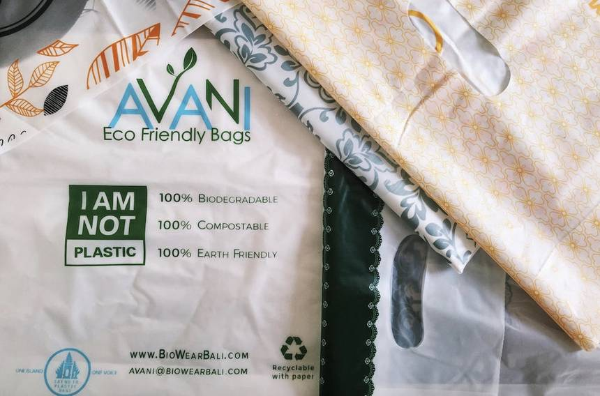 This plastic bag is edible, compostable, even drinkable